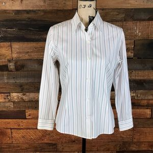 Casual Corner Annex Petite Button Down Shirt